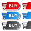 sticker, shopping cart, trolley, item, button