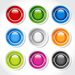 circular blank glossy buttons