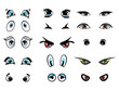 cartoon illustration eyes collection