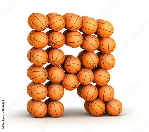 Letter R   basketball