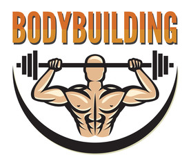 bodybuilding badge (bodybuilding symbol, bodybuilding label)