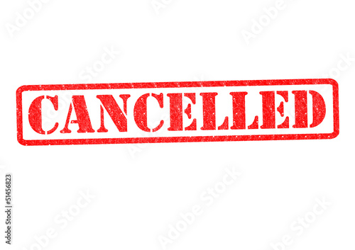 CANCELLED Rubber Stamp