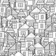 House seamless pattern