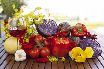 Vino e verdure