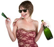 Party Girl with Wine and Kazoo