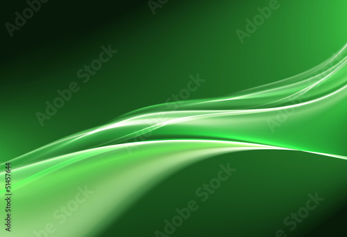 Awesome abstract eco liquid wave on green background