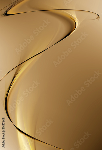 Abstract swirl wave on beige background