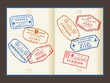 Travel stamps to London, Venice, Rome, Paris
