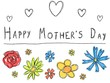 Mother's day card - vector illustration