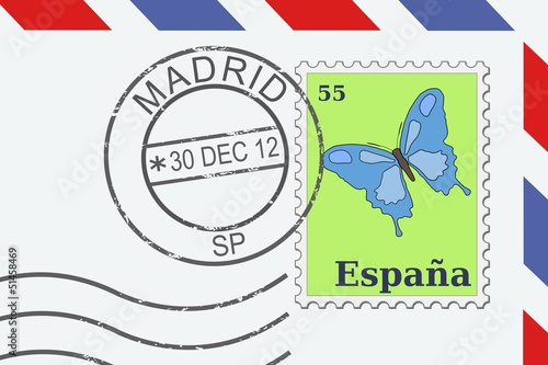 Letter from Spain - vector illustration