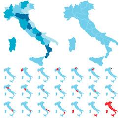 Cartina Italia regioni