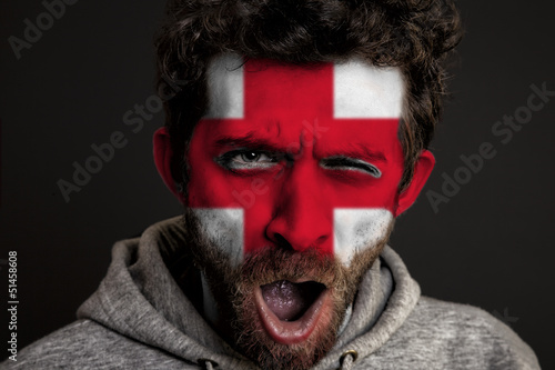 English Flag on Face