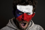 Czech Republic Flag on Face