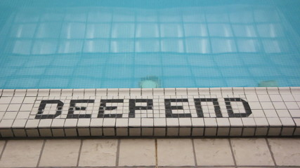 Deep end of the pool.