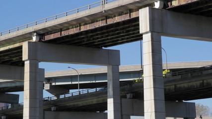 Multi-level highway. Gardiner Expressway, Toronto.