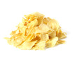 Durian chips isolated on white background