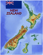 New Zealand Oceania national emblem map symbol motto