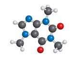 Caffeine molecule ball and stick model - C8H10N4O2 poster