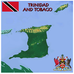 Trinidad Tobago Caribbean national emblem map symbol motto