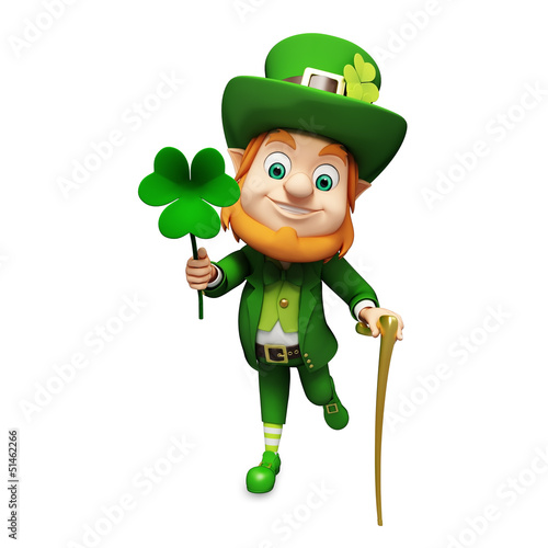 Leprechaun for st patrick s day with sticks