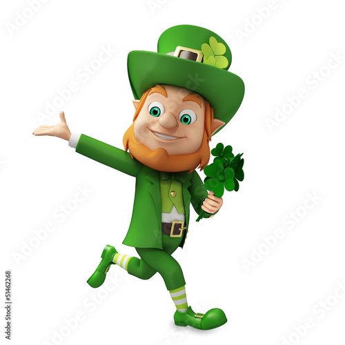 running Leprechaun for st patrick's day