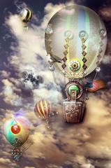 Flight of old mongtgolfier