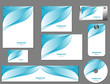 set of identity template design