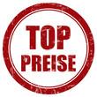 Grunge Stempel rot rund TOP PREISE