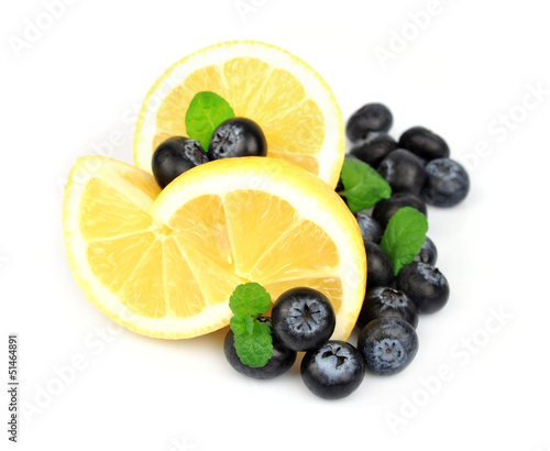 bilberry about a lemon and mint