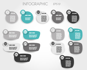 turquoise and grey article elements five options
