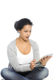 Woman with tablet-pc