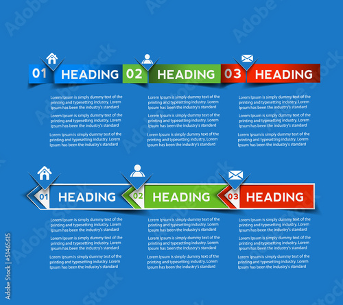 Abstract Infographics banner design, vector