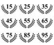 Lauriers de 15 à 95