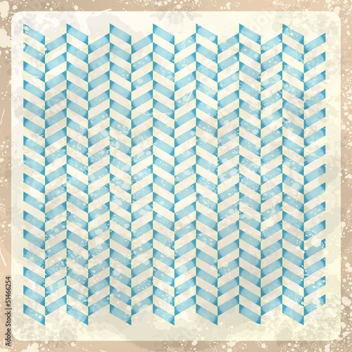 Deurstickers ZigZag Abstract retro background