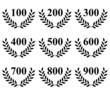 Lauriers de 100 à 900