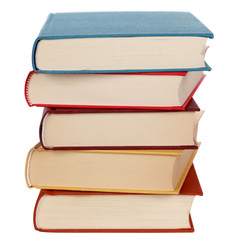 Stapel mit bunten Büchern