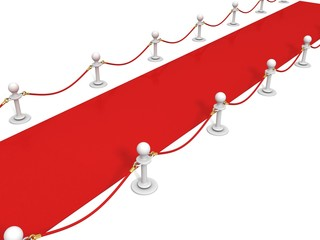 VIP red carpet with rope barrier