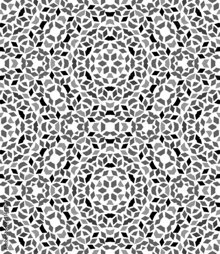 Abstract black and white geometric seamless pattern, vector