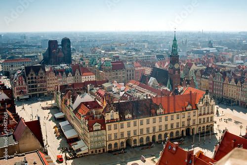 Zdjęcia na płótnie, fototapety na wymiar, obrazy na ścianę : wroclaw town hall