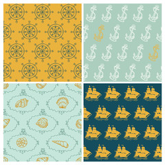 Set of Marine backgrounds - for your design, scrapbook