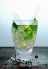 Glass of iced Hugo