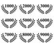 Lauriers de 1000 à 9000