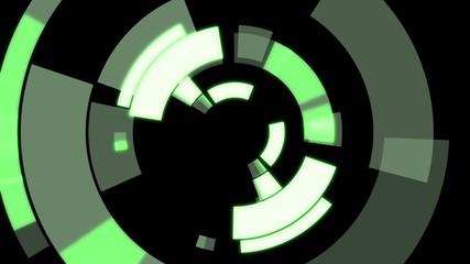 円形のアニメーション(緑)