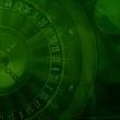 Casino roulette green background