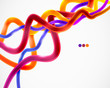 Colorful lines abstract vector background