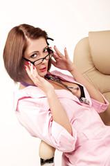 медсестра с стетоскоп