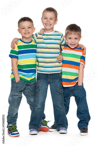 Three fashion little boys