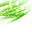 abstract wavy green background with sparkles