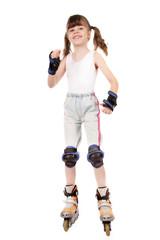 girl on skate roller