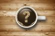 Kaffeetasse mit Fragezeichen